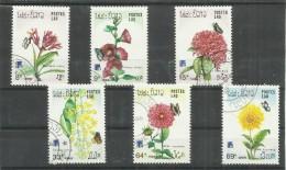 Laos 1098-1103, Satz Kpl Mit 6 Verschiedenen Pflanzen-Briefmarken Mit Blüten, 1984. Gestempelt Mi. 2,20 €