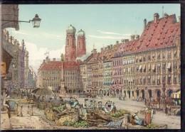 München - Marienplatz Im 19. Jahrhundert - Muenchen
