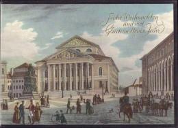 München - Nationaltheater Im 19. Jahrhundert   Weihnachtskarte - Muenchen
