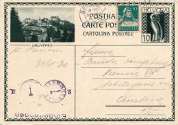 SCHWEIZ 1930 - 10 C Ganzsache + 10 C Zusatzfr.u.Eingangsstempel A.Bildpostkarte GRUYÈRES, Gel.v.Geneve Nach Vienna ... - 1949 - ... Volksrepublik
