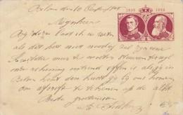 BELGIEN 1905 - 5 C Ganzsache Auf Bildpostkarte Gel.v.Bilsen Nach Maeseyck