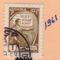 URSS - RUSSIA - EUROPA SELLO AÑO 1961