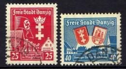 Danzig 1937 Mi 274-275, Gestempelt [261016XIII]