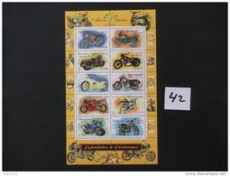 FRANCE  - BLOCS / FEUILLETS   Année 2002   N° BF / 51 - MOTO Cylindrées & Carénages   - Neuf  Voir Photo  ( 42 )