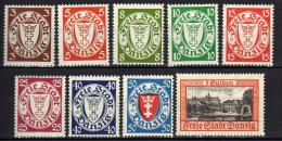 Danzig 1938 Mi 289-297 * [261016XIII]