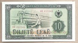 Albania - Banconota Non Circolata FdS Da 10 Leke - 1976 - Albania