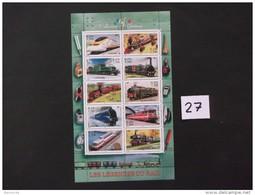 FRANCE  - BLOCS / FEUILLETS   Année 2001   N° BF / 38 - Les  Legendes Du Rail  - Neuf  Voir Photo  ( 27  )