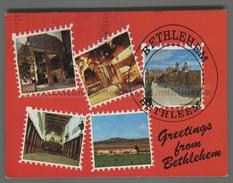 U6143 PALESTINE BETHLEHEM GREETINGS VIEWS VG (m) - Palestina