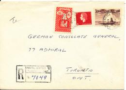 Canada Registered Cover Toronto 30-7-1964