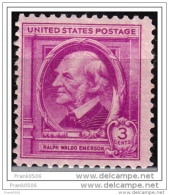 United States 1940, Famous American Author - Ralph Waldo Emerson, MNH