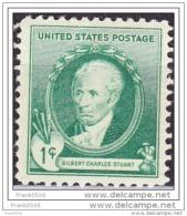 United States 1940, Famous American Artist - Gilbert Charles Stuart, MNH