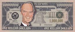 Clint Eastwood 1 Million Dollar Caricature  UNC - Fictifs & Spécimens