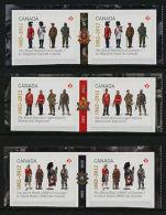 Canada 2578 -80 Booklet Pairs MNH Canadian Regiments, Military Uniforms - Non Classificati