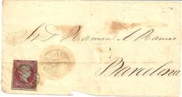 Historia Postal   Fragmento Carta   Avilés- Barcelona   1865    NL556 - Covers & Documents