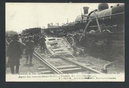 +++ CPA - KONTICH - CONTICH - Mai 1908 - Accident De Chemin De Fer - Voitures Démantibulées - Train Trein  // - Kontich