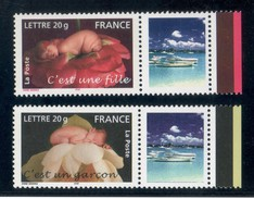 SERIE C´EST UNE FILLE / GARCON 2005 N° 3804A/5A LOGO PRIVE  COTE 40 EUROS MAURY LUXE