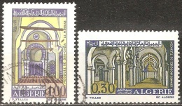 Algérie - 1970 - Mosquées De Tlemcen Et De Sidi-Akba  - YT 528 Et 529 Oblitérés