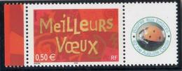 MEILLEURS VOEUX  2003 LOGO PRIVE LUXE COTE 18 EUROS MAURY / 3623A YVERT & TELLIER