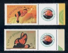 SERIE C´EST UNE FILLE / GARCON 2004 N° 3634/35A LOGO PRIVE  COTE 36 EUROS MAURY LUXE