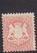 Bavaria, Scott #37, Mint No Gum,Coat Of Arms, Issued 1875 - Bavaria