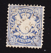 Bavaria, Scott #42, Used,Coat Of Arms, Issued 1875 - Bavière