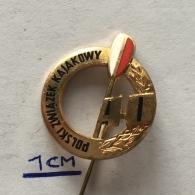Badge (Pin) ZN003580 - Kayak / Canoe / Rowing Poland Federation - Canoeing, Kayak