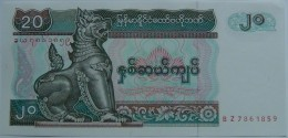 Billete Birmania. 20 Kyats. 1994. Sin Circular. - Myanmar