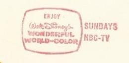 EMA Freistempel AFS METER STAMP WALT DISNEY ROCHESTER USA 1967 NBC TV