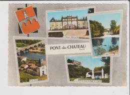CPSM Grand Format - PONT DU CHATEAU - Multivues - Pont Du Chateau