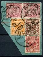 98390) DEUT. KOLONIEN China Vorläufer - Briefstück Gestempelt GEPRÜFT Aus 1888/90, 360.- €+++