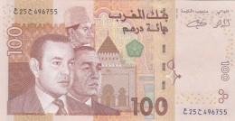 MOROCCO AL-MAGHRIB 100 DIRHAMS 2002 P-70 UNC  */* - Morocco