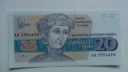 Billete Bulgaria. 20 Leba. 1991. Sin Circular - Bulgaria
