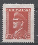 Croatia 1944. Scott #61 (MNH) Ante Pavelich, Stateman * - Croatie