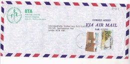 Air Mail NIGERIA COVER  Illus ADVERT, IITA TROPICAL AGRICULTURE Institute To GB - Nigeria (1961-...)
