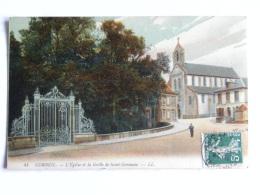 CPA  (91) Essonne - CORBEIL - L'église Et La Grille De Saint Germain - Corbeil Essonnes