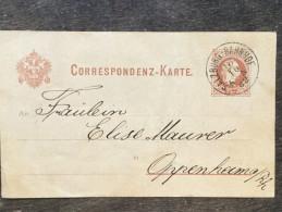 A17 Österreich Austria Autriche Ganzsache Stationery Entier Postal Mi. P 25 Salzburg-Bahnhof Nach Oppenheim