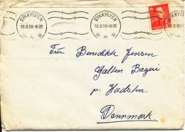 Norway Cover Sent To Denmark Sykkylven 18-9-1959