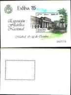 84237) Spagna-1985-exilna 85-espoizione Filatelica Di Madrid-BF-n.34-nuovo - Spagna