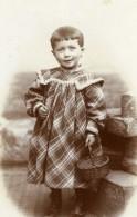 France Romilly Jeune Fille Et Panier En Osier Ancienne Photo CDV Savary 1890 - Photos