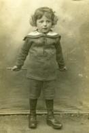 France Jeune Garcon En Habit De Marin Davidson Ancienne Photo CDV 1916