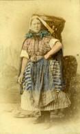 Ecosse Newhaven Femme De Pecheur Ancienne Photo CDV Kyles & Moir 1880 - Photographs