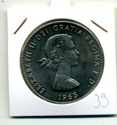 1965  1 COURONNE - 1902-1971 : Monnaies Post-Victoriennes