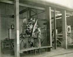 France Ouvriers Testant Moteur D' Avion Aviation Ancienne Photo 1925 - Aviación