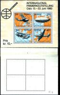 84242) Norvegia-1980-norvex 80-esposizione Filatelica Di Oslo- BF-n.3-nuovo