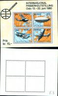 84243) Norvegia-1980-norvex 80-esposizione Filatelica Di Oslo- BF-n.3-nuovo
