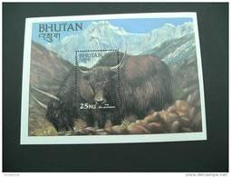 E903- Bloc MNh Bhutan 1984 Yak  Sc. 418 - Bhutan
