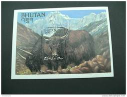 E903- Bloc MNh Bhutan 1984 Yak  Sc. 418