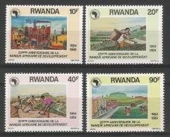 RWANDA 1990 - 25e Ann De La Banque Africaine De Développement - 4 Val Neuf // Mnh - 1990-99: Neufs