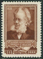 USSR 1956. SC #1857 VF/MNH. Henrik Ibsen. Norwegian Writer. (B-13)