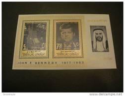 NN73a- Bloc MNH Umm Al Qiwain 1965- Pres. J.F. Kennedy